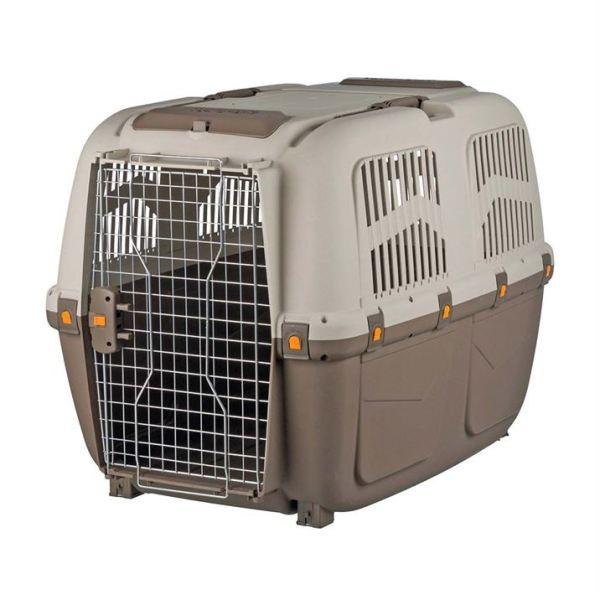"""Переноска-контейнер для собак """"Skudo"""" 1, 2, 3, 4, 5, 6, 7 Trixie коричневая/серая"""
