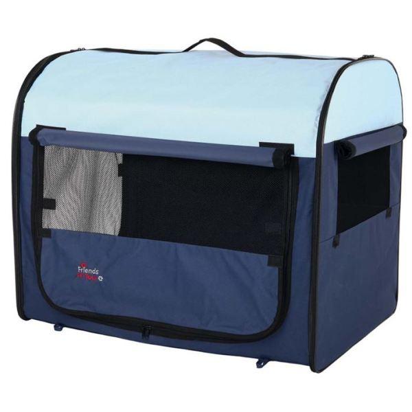 """Сумка-переноска для собак """"Tcamp"""" Trixie синяя/голубая"""