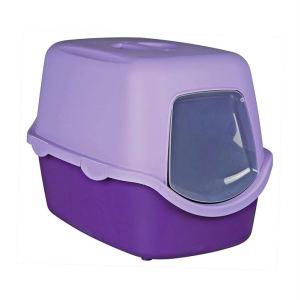 """Туалет для кошек закрытый с дверью """"Vico"""" Trixie бирюзовый, синий, бордовый, фиолетовый, светло-серый 40 x 40 x 56 см."""