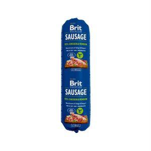 Консервы для собак Brit Premium Dog Sausage CHICKEN & VENISON колбаса с курицей и олениной 800 гр.