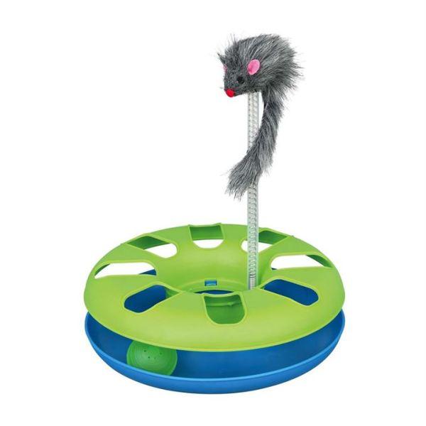 """Игрушка для кошек - Трек игровой с мышкой """"Crazy Circle"""" Trixie 24×29 см. пластик"""