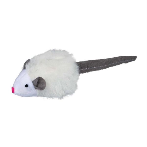 Игрушка для кошек Мышка-пищалка с чипом Trixie плюш 6 см.