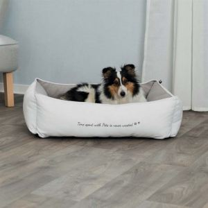 """Лежак для собак """"Pet's Home"""" Trixie с сердечком, белый/бежевый, коттон/полиэстер"""