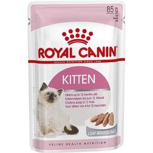 Влажный корм для котят до 12 месяцев Royal Canin KITTEN wet in loaf паштет 85 гр.