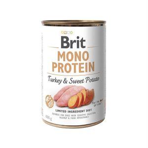 Консервы для собак Brit Mono Protein TURKEY & SWEET POTATO с индейкой и сладким картофелем 400 гр.