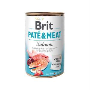 Консервы для собак Brit Pate & Meat SALMON с лососем 400 гр.