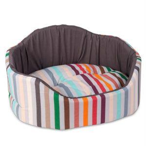 """Лежак для собак и кошек Природа Pet Fashion """"КОРАЛЛ"""" 1; 2; 3 коричневый"""