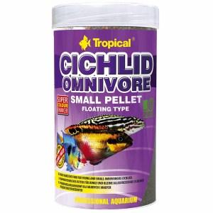 Сухой корм для аквариумных рыб в гранулах Tropical Cichlid Omnivore Small Pellet (для всех цихлид)
