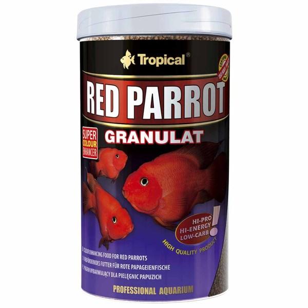 Сухой корм для аквариумных рыб в гранулах Tropical Red Parrot Granulat (для попугаев)