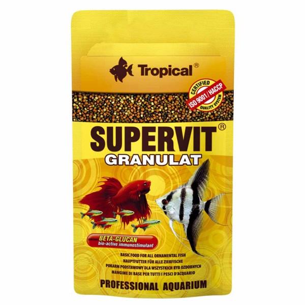 Сухой корм для аквариумных рыб в гранулах Tropical SuperVit Granulat (для всех видов рыб) 10 гр.