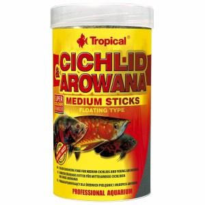 Сухой корм для аквариумных рыб в палочках Tropical Cichlid & Arowana Medium Sticks (для плотоядных цихлид)