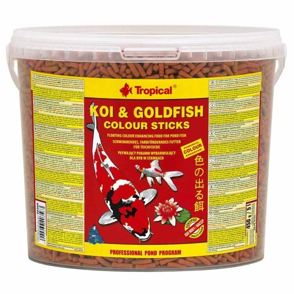 Сухой корм для прудовых рыб в палочках Tropical Koi & Goldfish Colour Sticks (для всех прудовых рыб)