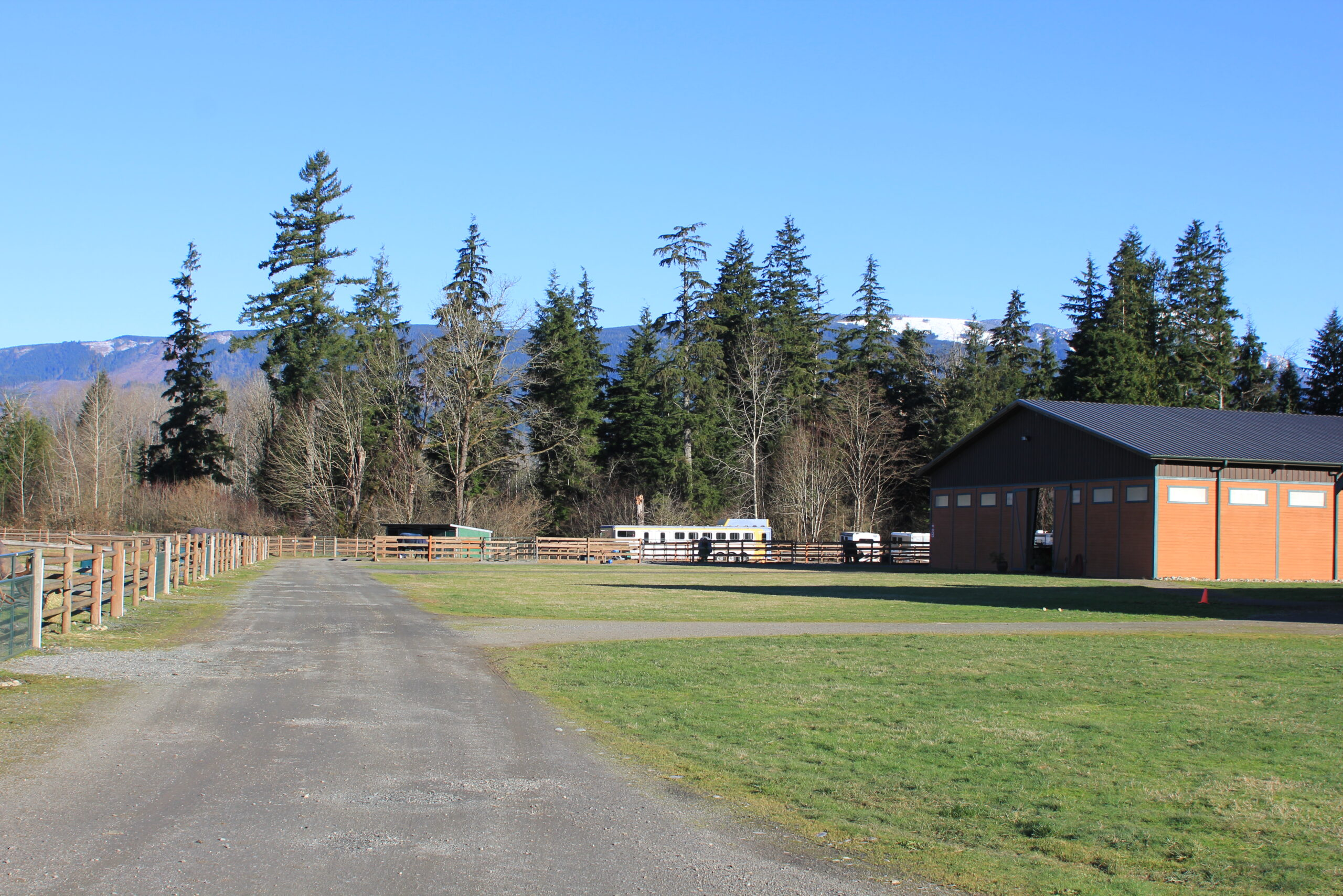 Driveway to barn