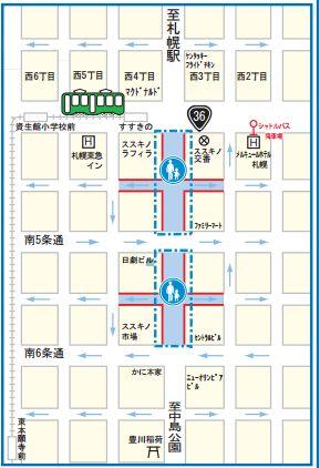 札幌雪祭り-02-すすきの会場-マップ2015