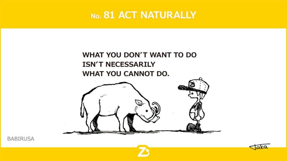 No. 81 ACT NATURALLY/ フランスのユーモア