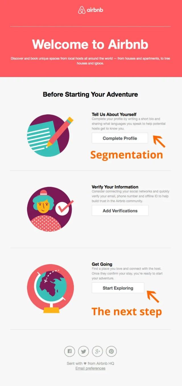 segmentation email airbnb