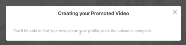Creating Pinterest Promoted Video