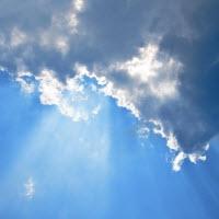 wolken zonnestraal