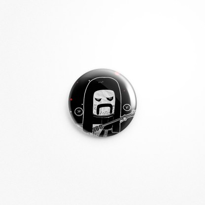 "Grind-core Zorg Death Metal Button, 1.5"" Diameter"