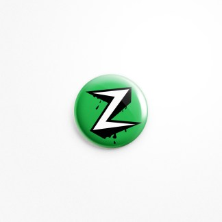 "Bleeding Zorg Metal Logo Button, 1.5"" Diameter"