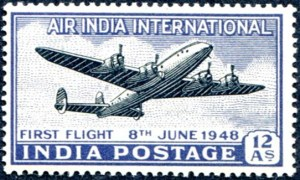 lockheed constellation stamp