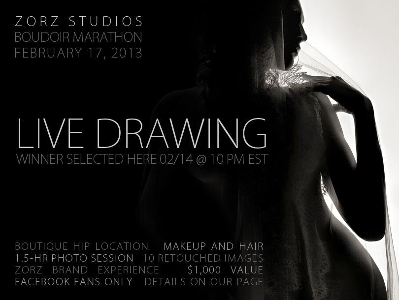 Contest: Zorz Studios' Free Boudoir Marathon Session Drawing