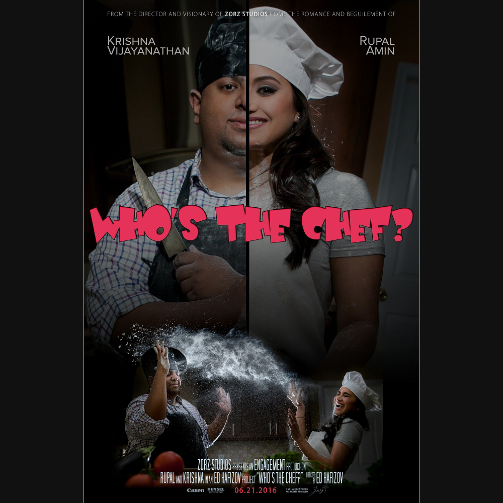 Who's The Chef? Rupal + Krishna = Food Fight Engagement Session by Zorz Studios (1)