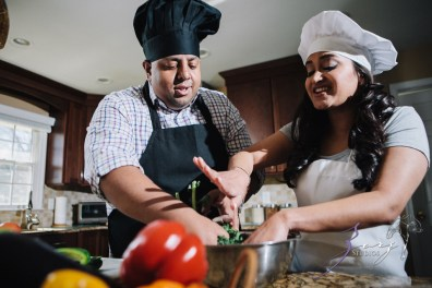 Who's The Chef? Rupal + Krishna = Food Fight Engagement Session by Zorz Studios (28)