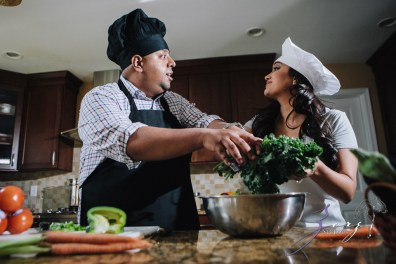 Who's The Chef? Rupal + Krishna = Food Fight Engagement Session by Zorz Studios (27)