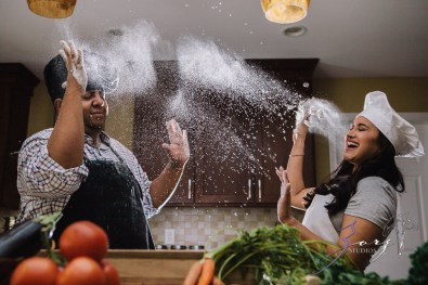 Who's The Chef? Rupal + Krishna = Food Fight Engagement Session by Zorz Studios (15)