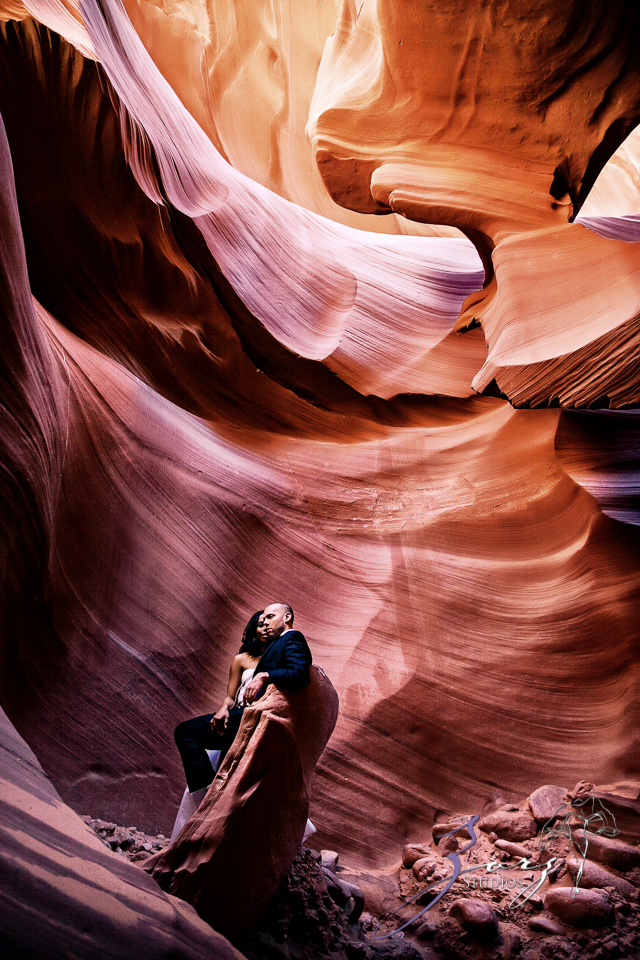 Canyon: Fashionable Engagement Session at Antelope Canyon by Zorz Studios (21)
