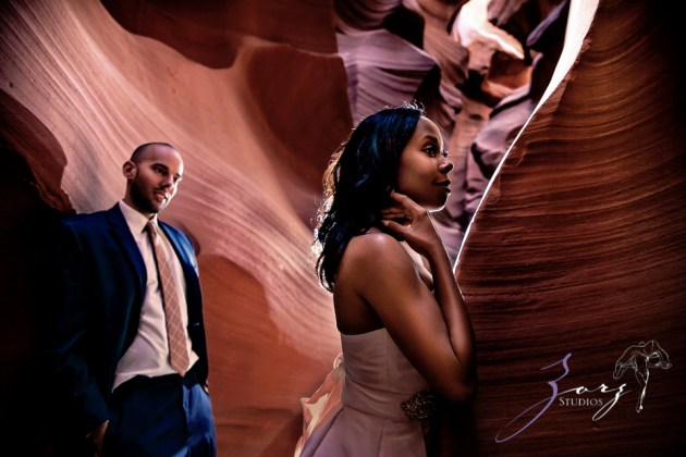 Canyon: Fashionable Engagement Session at Antelope Canyon by Zorz Studios (19)