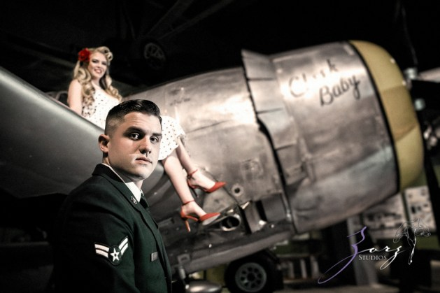 Pin-up Wings: Sam + Connor = Vintage Military Engagement Shoot by Zorz Studios (27)