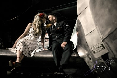 Pin-up Wings: Sam + Connor = Vintage Military Engagement Shoot by Zorz Studios (19)