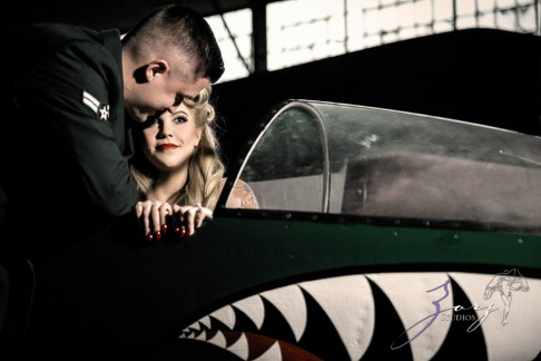 Pin-up Wings: Sam + Connor = Vintage Military Engagement Shoot by Zorz Studios (16)