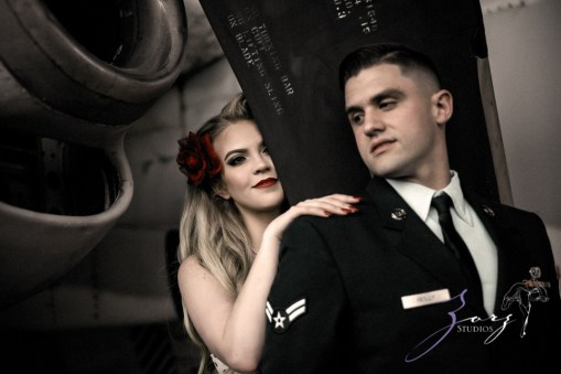 Pin-up Wings: Sam + Connor = Vintage Military Engagement Shoot by Zorz Studios (13)