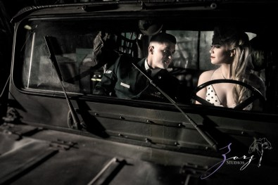 Pin-up Wings: Sam + Connor = Vintage Military Engagement Shoot by Zorz Studios (7)