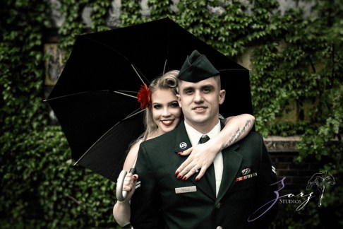 Pin-up Wings: Sam + Connor = Vintage Military Engagement Shoot by Zorz Studios (5)