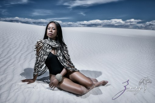 Icy Hot: Black Beauty in the White Sands Photoshoot by Zorz Studios (9)