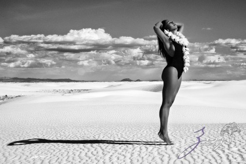 Icy Hot: Black Beauty in the White Sands Photoshoot by Zorz Studios (6)