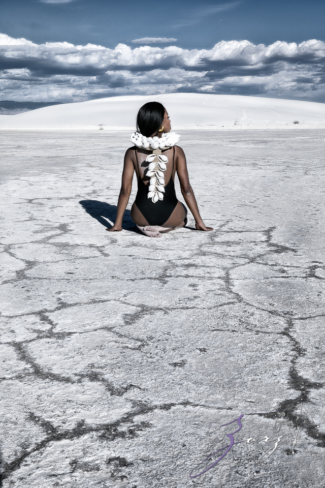 Icy Hot: Black Beauty in the White Sands Photoshoot by Zorz Studios (4)