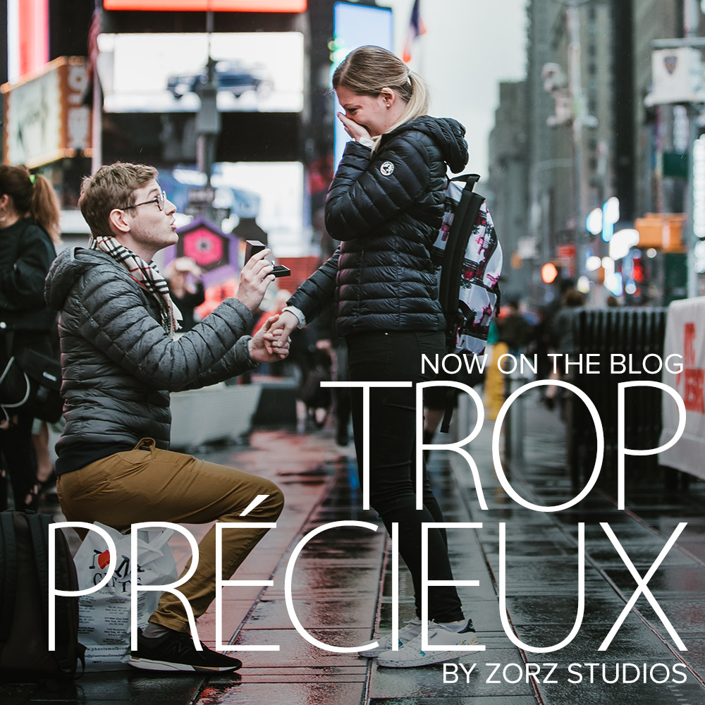 Trop Précieux: Frenchman's Marriage Proposal on Times Square by Zorz Studios (1)