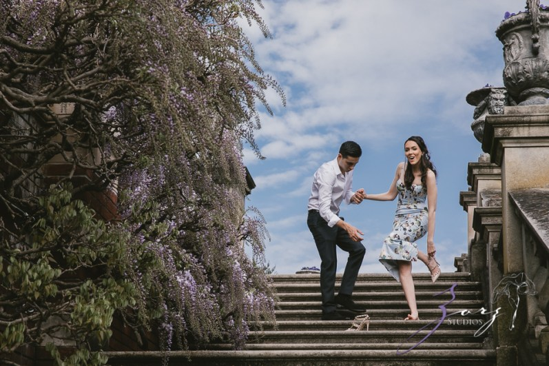 No Bounds: Ilana + Igor = Old Westbury Gardens Engagement Session by Zorz Studios (10)