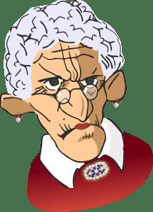 arrogante bejaarde