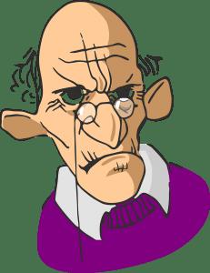 bejaarde irritant