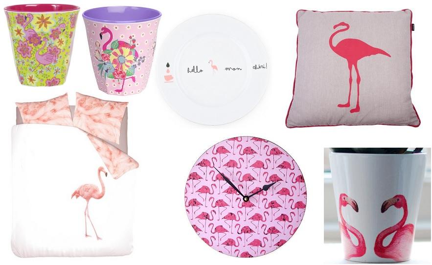 flamingo in huis