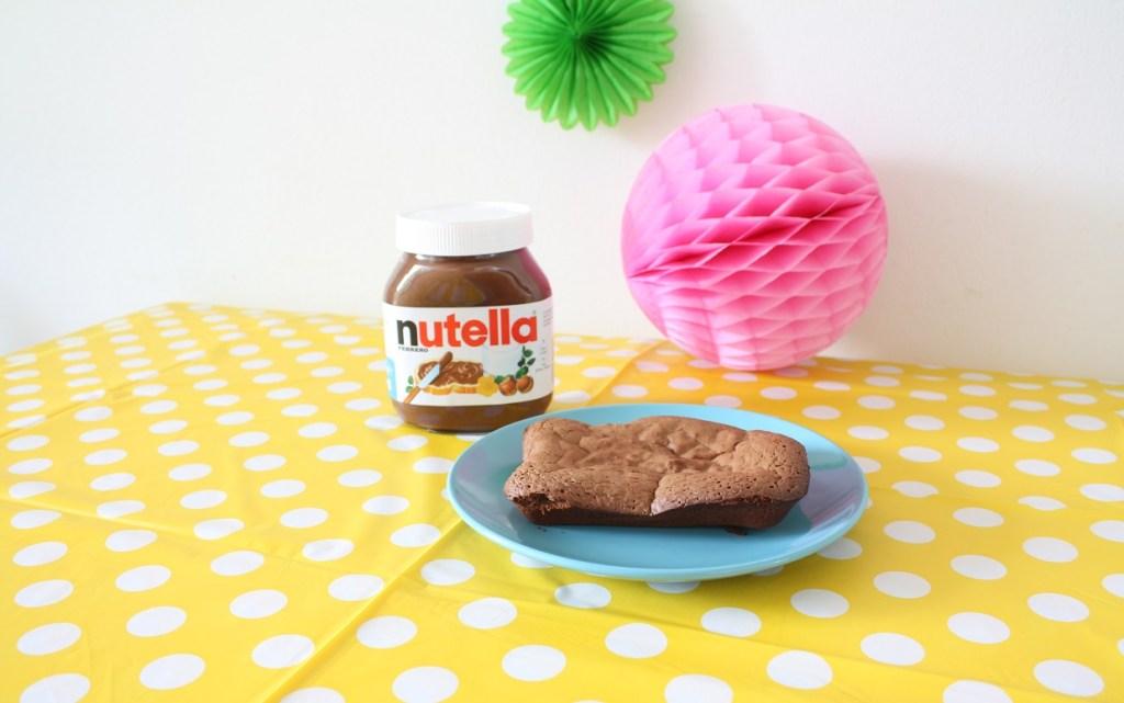 simpele nutella brownie