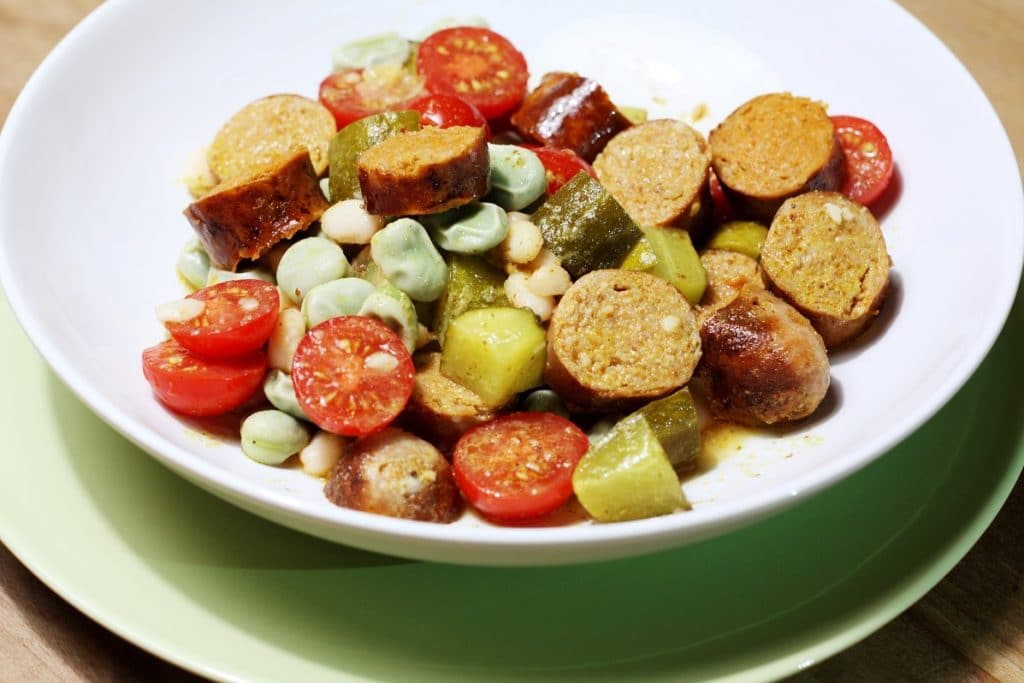 Tomaten bonen salade