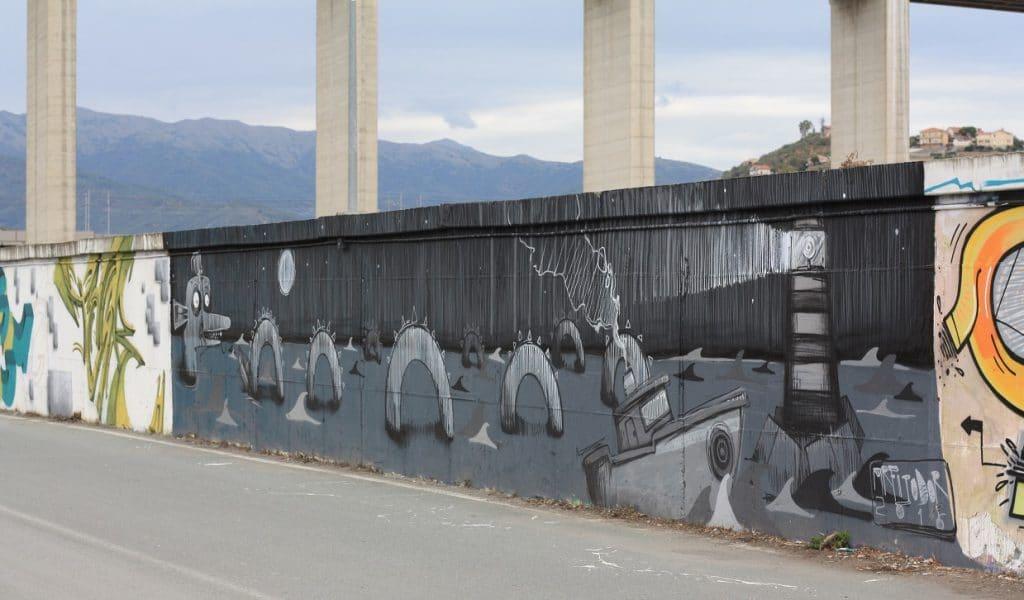 black and white graffiti