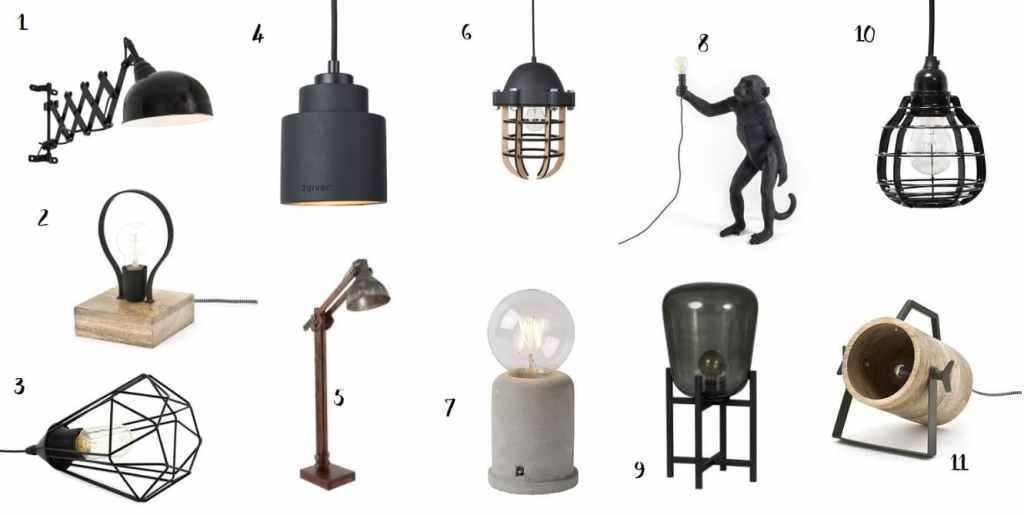 Stoere lampen industrieel